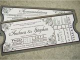 Wedding Invitations that Look Like Tickets Loved Our Wedding Invitations Shaped Like Movie Tickets
