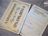 Wedding Invitations that Look Like Tickets Wedding Invitations that Look Like Tickets Party