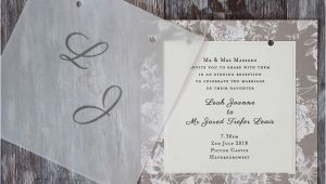 Wedding Invitations with Clear Overlay How to Make Gorgeous Vellum Wedding Stationery