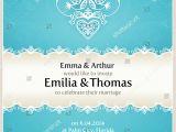 Wedding Invitations with Doves Blue Wedding Invitation Design Template Doves Stock Vector