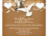 Wedding Invitations with Doves Love Birds Doves Wedding Invitation Zazzle