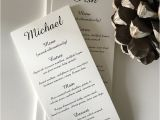 Wedding Invitations with Guest Names Printed Simple Personalised Wedding Menu Little Flamingo