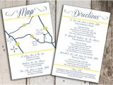 Wedding Invitations with Photo Insert Items Similar to Custom Wedding Map and Direction