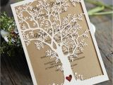 Wedding Invitations with Trees Laser Cut Tree Wedding Invitation Fall Wedding Invitation