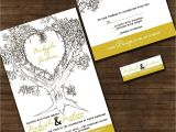 Wedding Invitations with Trees Personalized Oak Tree Wedding Invitation Sample Packet
