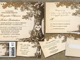 Wedding Invitations with Trees Rustic Wedding Invitations with Old Oak Tree Ipunya