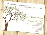 Wedding Invitations with Trees Wedding Invitation Wording Wedding Invitation Templates Tree