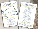 Wedding Invite Directions Template Custom Wedding Map and Direction Invitation Insert Printable