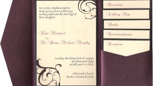 Wedding Invite Inserts 9 Best Images Of Pocketfold Wedding Invitations Inserts