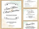 Wedding Invite Packages Floral Wedding Invitation Package Printable Digital Files