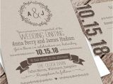 Wedding Invite Packages Printable Wedding Invitation Package Kraft 2346468