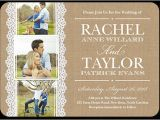 Wedding Invites with Pictures Burlap and Lace 5×7 Wedding Invitations Shutterfly