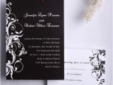 Wedding Invites with Pictures Classic Black and White Damask Wedding Invitations Ewi023