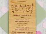 Wedding Invitions Floral Wooden Wedding Invitation by sophia Victoria Joy