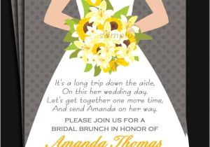 Wedding Lunch Invitation Wording Bridal Gown Invitation Printable or Printed with Free