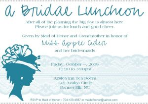 Wedding Lunch Invitation Wording Bridal Luncheon Invitation Weddingbee