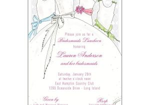 Wedding Lunch Invitation Wording Bridal Party Bridesmaids Luncheon Invitations Paperstyle
