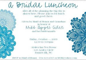 Wedding Lunch Invitation Wording Bridal Shower Invitations Free Bridal Shower Brunch