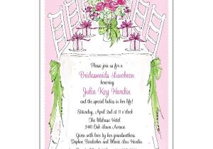 Wedding Lunch Invitation Wording Bridesmaids Luncheon Invitations Paperstyle