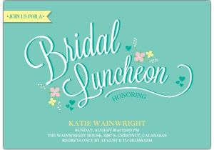 Wedding Lunch Invitation Wording Delicate Floral Bridal Luncheon Invitations Paperstyle