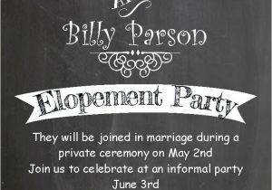 Wedding Party Invitations after Getting Married after the Wedding Party Invitations or Elopement Party