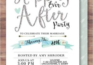 Wedding Party Invitations after Getting Married Happily Ever after Invitation Boho Wedding Shower