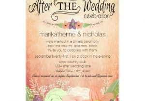Wedding Party Invitations after Getting Married Watercolor Flowers after Wedding Party Invitations Zazzle