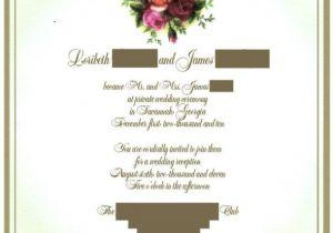 Wedding Reception Invitation Wording Already Married Invitation Wording Advice