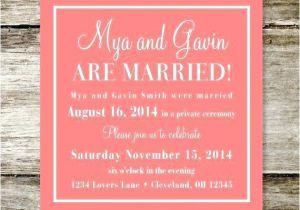 Wedding Reception Invitation Wording Already Married New Wedding Reception Invitation Wording after Private