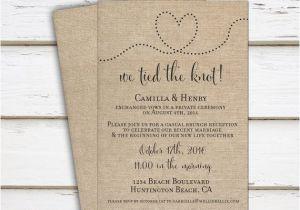 Wedding Reception Invitation Wording Already Married Printable Elopement Reception Invitation Reception Only