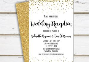 Wedding Reception Invitation Wording Already Married Printable Elopement Reception Invitation Wedding Reception