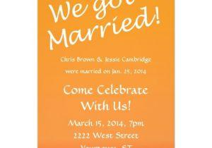 Wedding Reception Invitation Wording Already Married We Got Married Post Wedding Party Invitation Zazzle Com