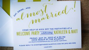 Wedding Welcome Party Invitation Bahamas Wedding Wel E Party Invitations I Custom by Nico