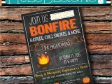 Weenie Roast Birthday Invitations Any Color Fall Yall Bonfire Chalkboard Hayride Weenie Roast