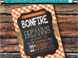 Weenie Roast Birthday Invitations Any Color Fall Yall Burlap Chalkboard Hayride Weenie Roast