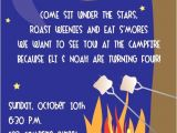 Weenie Roast Birthday Invitations Items Similar to Diy Printable Invitation Campfire Weenie