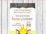 Weenie Roast Birthday Invitations Weenie Roast Personalized Birthday Invitation by