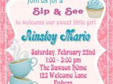 Welcome Baby Girl Party Invitations 17 Best Images About Sip See Sprinkle On Pinterest