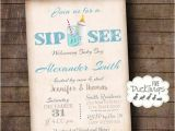 Welcome Baby Party Invitations Sip and See Invitation Welcome Baby Party Invite Baby Boy