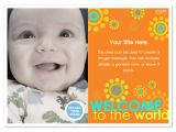 Welcome Baby Party Invitations Welcome to the World Baby Announcement Invitations