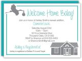 Welcome Home Baby Shower Invitations 7 Best Wel E Home Baby Shower Images On Pinterest