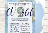 Welcome to the World Baby Shower Invitations Blue Wel E to the World Baby Shower Invitation Printable