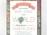 Welcome to the World Baby Shower Invitations Wel E to the World Baby Shower Invitation Travel