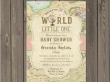 Welcome to the World Baby Shower Invitations World Baby Shower Invitation Wel E to the World Baby