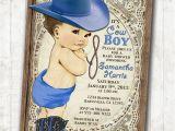 Western Baby Boy Shower Invitations Cowboy Baby Shower Invitation for Boy Vintage Cowboy