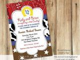 Western Baby Boy Shower Invitations Western Baby Shower Invitation Boy Cowboy Baby Shower