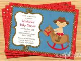 Western Baby Shower Invites Western Cowboy Baby Shower Invitation 5×7 Printable