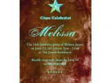 Western Quinceanera Invitations 233 Western Sweet 16 Invitation Blue Brown Star Zazzle