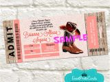 Western Quinceanera Invitations Look Here Western Rustic Ticket Invitations