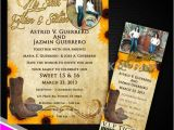 Western Quinceanera Invitations Sweet 15 Western theme Invitation and Vip Ticket with